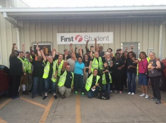 Lewisville School Bus Workers Join Teamsters Local 745