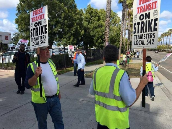 Teamsters Strike San Diego First Transit Buses
